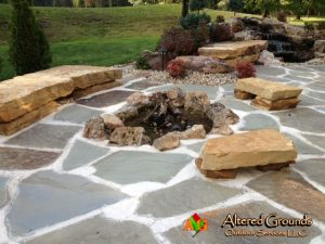 Fire Pit - Boulder Seating Fire Pit WL